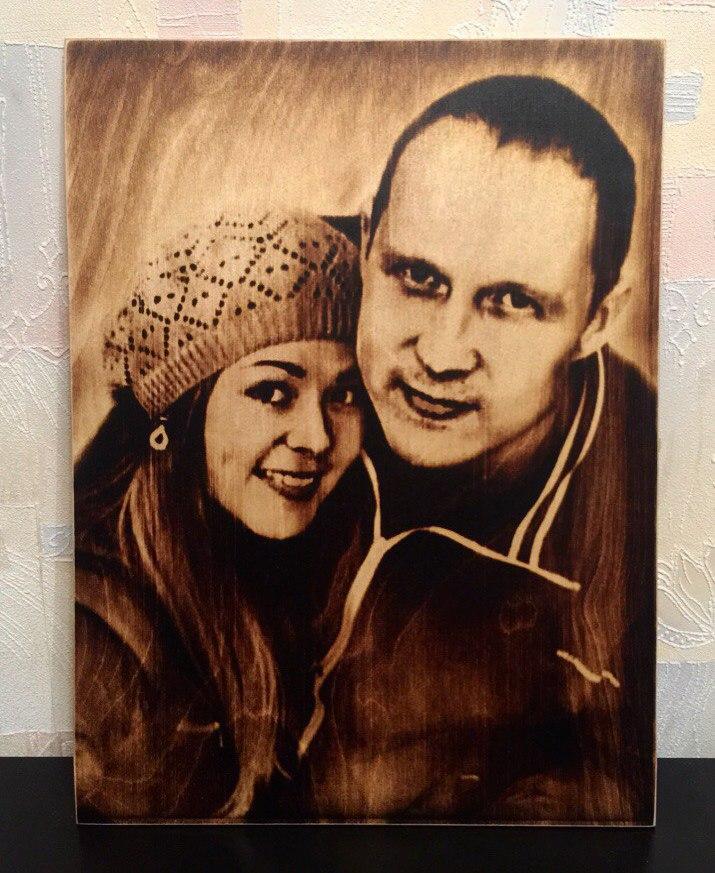 выжигание портретов по дереву на заказ в Волгограде