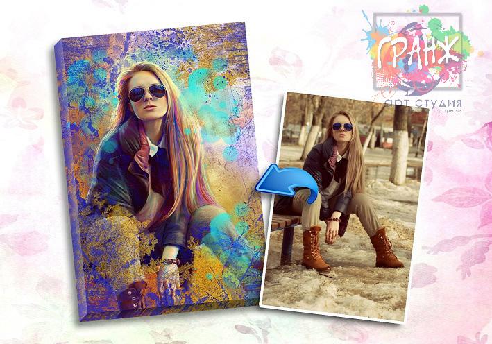 Портрет по фото на заказ в честь 8 марта в Волгограде…