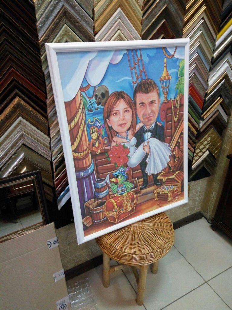 шаржи на заказ по фотографии в Волгограде