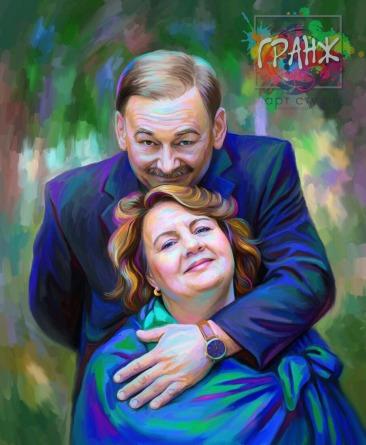Портрет по фото на холсте — оригинальный подарок на семейный праздник