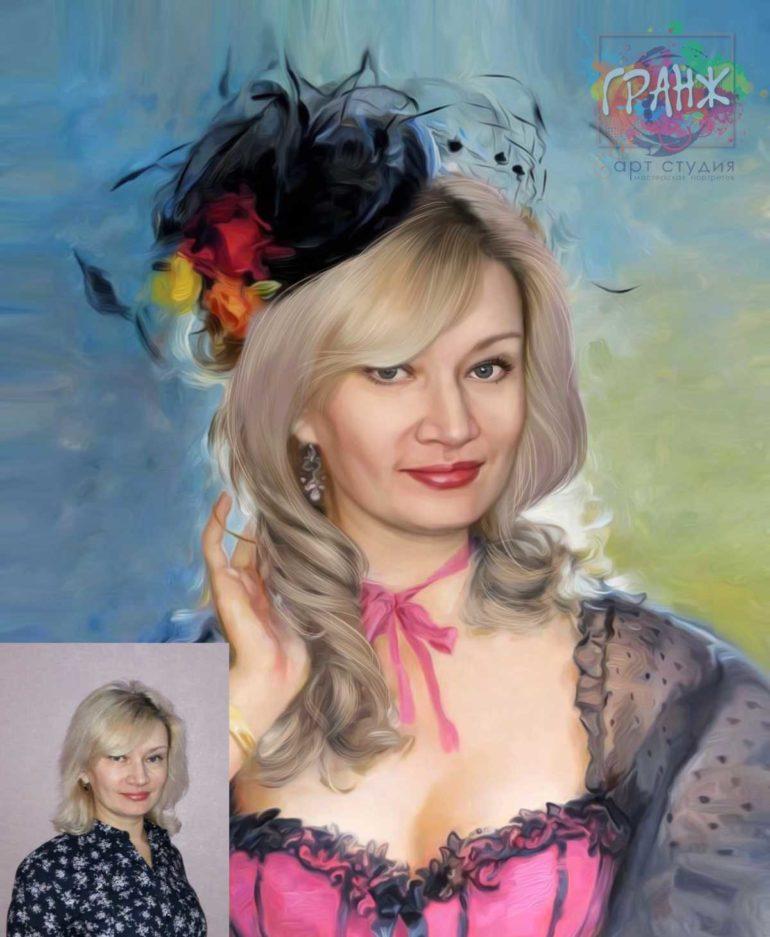 Заказать арт портрет по фото на холсте в Волгограде