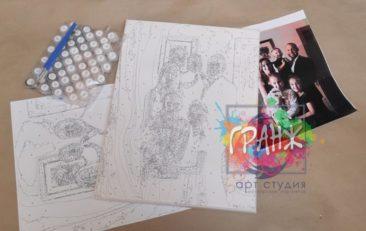 Картина по номерам по фото, портреты на холсте и дереве в Волгограде